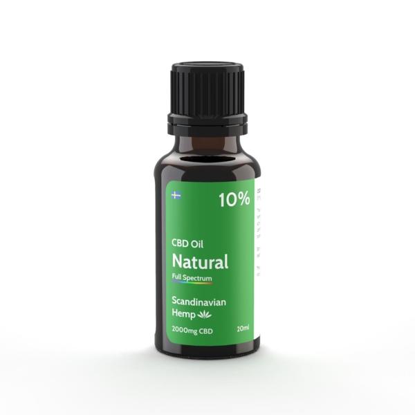 10% CBD Φυσικό έλαιο 20 ml