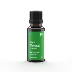 5% CBD Φυσικό έλαιο 20 ml